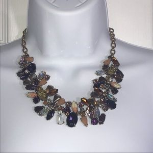 J. Crew Factory Mixed Stone Statement Necklace